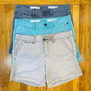 Anthropologie Pilcro Hyphen Chino Shorts Lot of 3